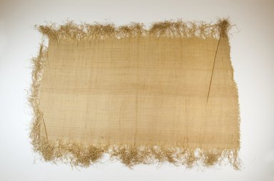 Possibly Kuba. <em>Raffia Cloth</em>, 19th century. Raffia, 23 1/4 x 13 3/4 in. (59.0 x 35.0 cm). Brooklyn Museum, Museum Expedition 1922, Robert B. Woodward Memorial Fund, 22.469.26. Creative Commons-BY (Photo: Brooklyn Museum, CUR.22.469.26_top_PS5.jpg)