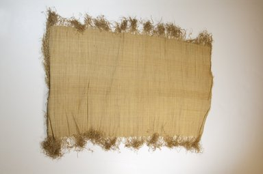 Possibly Kuba. <em>Raffia Cloth</em>, 19th century. Raffia, 27 5/8 x 14 1/4 in. (70.0 x 36.0 cm). Brooklyn Museum, Museum Expedition 1922, Robert B. Woodward Memorial Fund, 22.469.27. Creative Commons-BY (Photo: Brooklyn Museum, CUR.22.469.27_top_PS5.jpg)
