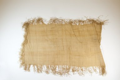 Possibly Kuba. <em>Raffia Cloth</em>, 19th century. Raffia, 23 5/8 x 12 in. (60.0 x 30.5 cm). Brooklyn Museum, Museum Expedition 1922, Robert B. Woodward Memorial Fund, 22.469.29. Creative Commons-BY (Photo: Brooklyn Museum, CUR.22.469.29_top_PS5.jpg)