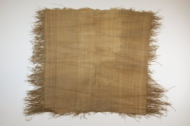 Possibly Kuba. <em>Raffia Cloth</em>, 19th century. Raffia, 23 1/4 x 21 1/8 in. (59.0 x 51.0 cm). Brooklyn Museum, Museum Expedition 1922, Robert B. Woodward Memorial Fund, 22.469.2. Creative Commons-BY (Photo: Brooklyn Museum, CUR.22.469.2_top_PS5.jpg)