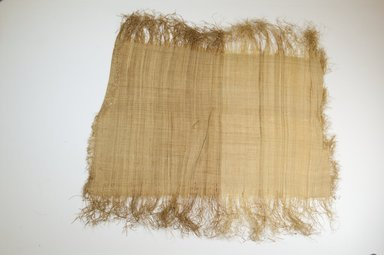 Possibly Kuba. <em>Raffia Cloth</em>, 19th century. Raffia, 20 x 13 3/4 in. (51.0 x 35.0 cm). Brooklyn Museum, Museum Expedition 1922, Robert B. Woodward Memorial Fund, 22.469.31. Creative Commons-BY (Photo: Brooklyn Museum, CUR.22.469.31_top_PS5.jpg)