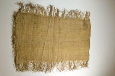 Possibly Kuba. <em>Raffia Cloth</em>, 19th century. Raffia, 24 7/8 x 13 2/8 in. (63.5 x 33.5 cm). Brooklyn Museum, Museum Expedition 1922, Robert B. Woodward Memorial Fund, 22.469.32. Creative Commons-BY (Photo: Brooklyn Museum, CUR.22.469.32_top_PS5.jpg)