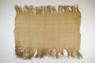 Possibly Kuba. <em>Raffia Cloth</em>, 19th century. Raffia, 22 7/8 x 13 5/8 in. (58.0 x 34.5 cm). Brooklyn Museum, Museum Expedition 1922, Robert B. Woodward Memorial Fund, 22.469.36. Creative Commons-BY (Photo: Brooklyn Museum, CUR.22.469.36_top_PS5.jpg)