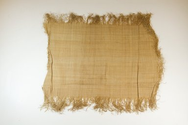 Possibly Kuba. <em>Raffia Cloth</em>, 19th century. Raffia, 19 5/8 x 12 3/8 in. (50.0 x 31.5 cm). Brooklyn Museum, Museum Expedition 1922, Robert B. Woodward Memorial Fund, 22.469.38. Creative Commons-BY (Photo: Brooklyn Museum, CUR.22.469.38_top_PS5.jpg)