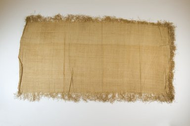 Possibly Kuba. <em>Raffia Cloth</em>, 19th century. Raffia, 29 1/8 x 13 5/8 in. (74.0 x 34.5 cm). Brooklyn Museum, Museum Expedition 1922, Robert B. Woodward Memorial Fund, 22.469.40. Creative Commons-BY (Photo: Brooklyn Museum, CUR.22.469.40_top_PS5.jpg)