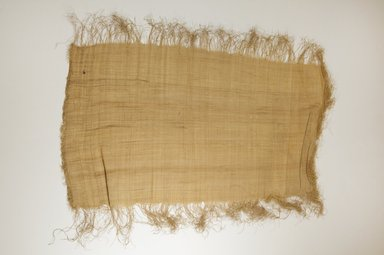 Possibly Kuba. <em>Raffia Cloth</em>, 19th century. Raffia, 26 x 13 3/8 in. (66.0 x 34.0 cm). Brooklyn Museum, Museum Expedition 1922, Robert B. Woodward Memorial Fund, 22.469.41. Creative Commons-BY (Photo: Brooklyn Museum, CUR.22.469.41_top_PS5.jpg)