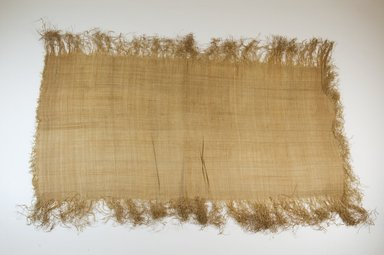 Possibly Kuba. <em>Raffia Cloth</em>, 19th century. Raffia, 24 3/8 x 12 5/8 in. (62.0 x 32.0 cm). Brooklyn Museum, Museum Expedition 1922, Robert B. Woodward Memorial Fund, 22.469.42. Creative Commons-BY (Photo: Brooklyn Museum, CUR.22.469.42_top_PS5.jpg)