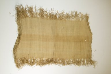 Possibly Kuba. <em>Raffia Cloth</em>, 19th century. Raffia, 25 1/4 x 11 7/8 in. (64.0 x 30.0 cm). Brooklyn Museum, Museum Expedition 1922, Robert B. Woodward Memorial Fund, 22.469.43. Creative Commons-BY (Photo: Brooklyn Museum, CUR.22.469.43_top_PS5.jpg)