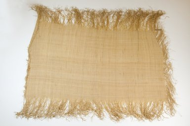 Possibly Kuba. <em>Raffia Cloth</em>, 19th century. Raffia, 21 x 11 1/4 in. (53.5 x 28.5 cm). Brooklyn Museum, Museum Expedition 1922, Robert B. Woodward Memorial Fund, 22.469.44. Creative Commons-BY (Photo: Brooklyn Museum, CUR.22.469.44_top_PS5.jpg)