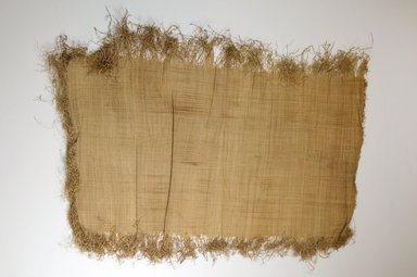 Possibly Kuba. <em>Raffia Cloth</em>, 19th century. Raffia, 25 1/4 x. Brooklyn Museum, Museum Expedition 1922, Robert B. Woodward Memorial Fund, 22.469.45. Creative Commons-BY (Photo: Brooklyn Museum, CUR.22.469.45_top_PS5.jpg)