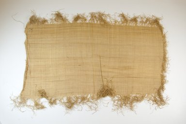 Possibly Kuba. <em>Raffia Cloth</em>, 19th century. Raffia, 23 1/4 x 13 in. (59.0 x 33.0 cm). Brooklyn Museum, Museum Expedition 1922, Robert B. Woodward Memorial Fund, 22.469.46. Creative Commons-BY (Photo: Brooklyn Museum, CUR.22.469.46_top_PS5.jpg)