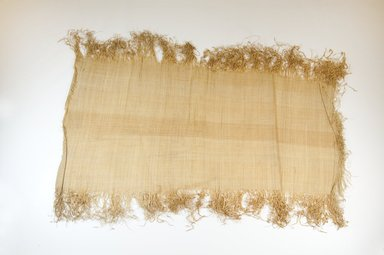 Possibly Kuba. <em>Raffia Cloth</em>, 19th century. Raffia, 65.0 x 32.0 cm. Brooklyn Museum, Museum Expedition 1922, Robert B. Woodward Memorial Fund, 22.469.47. Creative Commons-BY (Photo: Brooklyn Museum, CUR.22.469.47_top_PS5.jpg)