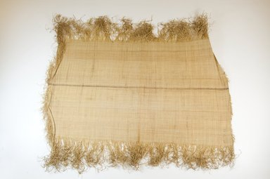 Possibly Kuba. <em>Raffia Cloth</em>, 19th century. Raffia, 59.0 x 35.5 cm. Brooklyn Museum, Museum Expedition 1922, Robert B. Woodward Memorial Fund, 22.469.49. Creative Commons-BY (Photo: Brooklyn Museum, CUR.22.469.49_top_PS5.jpg)