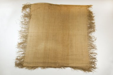 Possibly Kuba. <em>Raffia Cloth</em>, 19th century. Raffia, 20 1/2 x 18 1/4 in. (52.0 x 46.5 cm). Brooklyn Museum, Museum Expedition 1922, Robert B. Woodward Memorial Fund, 22.469.50. Creative Commons-BY (Photo: Brooklyn Museum, CUR.22.469.50_top_PS5.jpg)