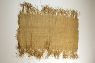Possibly Kuba. <em>Raffia Cloth</em>, 19th century. Raffia, 21 7/8 x 11 3/8 in. (55.5 x 29.0 cm). Brooklyn Museum, Museum Expedition 1922, Robert B. Woodward Memorial Fund, 22.469.52. Creative Commons-BY (Photo: Brooklyn Museum, CUR.22.469.52_top_PS5.jpg)