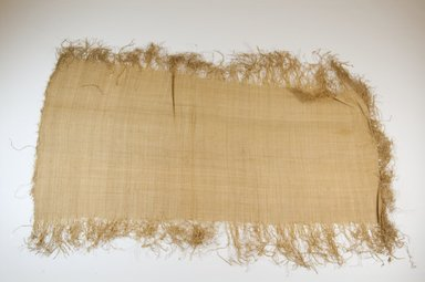 Possibly Kuba. <em>Raffia Cloth</em>, 19th century. Raffia, 25 1/4 x 12 5/8 in. (64.0 x 31.5 cm). Brooklyn Museum, Museum Expedition 1922, Robert B. Woodward Memorial Fund, 22.469.5. Creative Commons-BY (Photo: Brooklyn Museum, CUR.22.469.5_top_PS5.jpg)