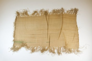Possibly Kuba. <em>Raffia Cloth</em>, 19th century. Raffia, 24 3/8 x 11 in. (62.0 x 28.5 cm). Brooklyn Museum, Museum Expedition 1922, Robert B. Woodward Memorial Fund, 22.469.6. Creative Commons-BY (Photo: Brooklyn Museum, CUR.22.469.6_top_PS5.jpg)