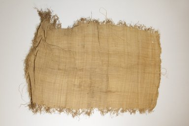 Possibly Kuba. <em>Raffia Cloth</em>, 19th century. Raffia, 66.0 x 36.0 cm including fringe. Brooklyn Museum, Museum Expedition 1922, Robert B. Woodward Memorial Fund, 22.469.7. Creative Commons-BY (Photo: Brooklyn Museum, CUR.22.469.7_top_PS5.jpg)