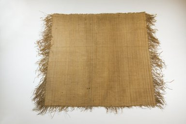 Possibly Kuba. <em>Raffia Cloth</em>, 19th century. Raffia, 49.5 x 48.5 cm. Brooklyn Museum, Museum Expedition 1922, Robert B. Woodward Memorial Fund, 22.469.8. Creative Commons-BY (Photo: Brooklyn Museum, CUR.22.469.8_top_PS5.jpg)
