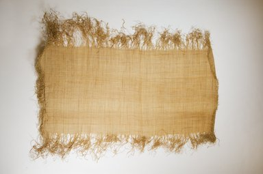 Possibly Kuba. <em>Raffia Cloth</em>, 19th century. Raffia, 26 3/8 x 12 5/8 in. (L: 67.0 x W:32.0 cm). Brooklyn Museum, Museum Expedition 1922, Robert B. Woodward Memorial Fund, 22.469.9. Creative Commons-BY (Photo: Brooklyn Museum, CUR.22.469.9_top_PS5.jpg)