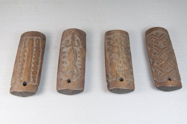 Shona. <em>Set of Four Divination Dice (Hakata)</em>, late 19th or early 20th century. Ivory (or Wood, possibly), a: 4 1/2 x 1 3/4 x 7/8 in. (11.4 x 4.5 x 2.2 cm). Brooklyn Museum, Museum Expedition 1922, Robert B. Woodward Memorial Fund, 22.488a-d. Creative Commons-BY (Photo: Brooklyn Museum, CUR.22.488a-d_front_PS5.jpg)