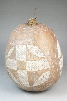 <em>Calabash</em>, before 1922. Gourd, clay, height: 6 11/16 in. (17 cm); diameter: 5 1/2 in. (14 cm). Brooklyn Museum, Museum Expedition 1922, Robert B. Woodward Memorial Fund, 22.508. Creative Commons-BY (Photo: Brooklyn Museum, CUR.22.508_front_PS5.jpg)