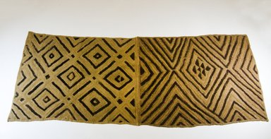 Kuba. <em>Raffia Cloth</em>, 19th century. Raffia, 49 x 20 1/2in. (124.5 x 52.1cm). Brooklyn Museum, Museum Expedition 1922, Robert B. Woodward Memorial Fund, 22.548. Creative Commons-BY (Photo: Brooklyn Museum, CUR.22.548_top_PS5.jpg)