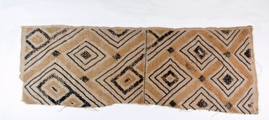 Kuba. <em>Raffia Cloth</em>, 19th century. Raffia, 24 x 17 1/2 in. (61.0 x 23.5 cm). Brooklyn Museum, Museum Expedition 1922, Robert B. Woodward Memorial Fund, 22.549. Creative Commons-BY (Photo: Brooklyn Museum, CUR.22.549_top_PS5.jpg)