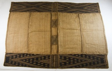 Mbuun. <em>Raffia Cloth</em>, 19th century. Raffia, 37 1/8 x 27 in. (94.0 x 60.90 cm). Brooklyn Museum, Museum Expedition 1922, Robert B. Woodward Memorial Fund, 22.550. Creative Commons-BY (Photo: Brooklyn Museum, CUR.22.550_top_PS5.jpg)