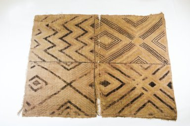 Ngeende. <em>Raffia Cloth</em>, 19th century., 68.5 x 58.5 cm. Brooklyn Museum, Museum Expedition 1922, Robert B. Woodward Memorial Fund, 22.551. Creative Commons-BY (Photo: Brooklyn Museum, CUR.22.551_top_PS5.jpg)