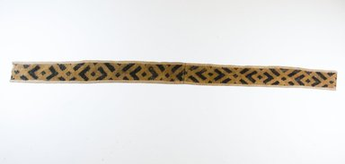 Kuba. <em>Raffia Cut-Pile Cloth</em>, 19th century. Raffia, 39 5/8 x 2 3/4 in. (102.0 x 7.0 cm). Brooklyn Museum, Museum Expedition 1922, Robert B. Woodward Memorial Fund, 22.552. Creative Commons-BY (Photo: Brooklyn Museum, CUR.22.552_top_PS5.jpg)