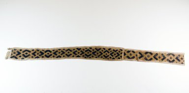 Kuba. <em>Narrow Raffia Border Band</em>, 19th century. Raffia, 38 x 3 in. (96.5 x 7.6 cm). Brooklyn Museum, Museum Expedition 1922, Robert B. Woodward Memorial Fund, 22.557. Creative Commons-BY (Photo: Brooklyn Museum, CUR.22.557_top_PS5.jpg)