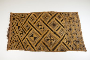 Kuba (Bushoong subgroup). <em>Raffia Cut-Pile Panel</em>, 19th century., 26 1/2 x 15 1/2 in. (67.0 x 39.0 cm). Brooklyn Museum, Museum Expedition 1922, Robert B. Woodward Memorial Fund, 22.561. Creative Commons-BY (Photo: Brooklyn Museum, CUR.22.561_top_PS5.jpg)