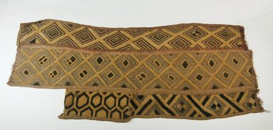Kuba (Bushoong subgroup). <em>Raffia Cloth</em>, 19th century. Raffia, 31 1/8 x 13in. (79 x 33cm). Brooklyn Museum, Museum Expedition 1922, Robert B. Woodward Memorial Fund, 22.564. Creative Commons-BY (Photo: Brooklyn Museum, CUR.22.564_top_PS5.jpg)