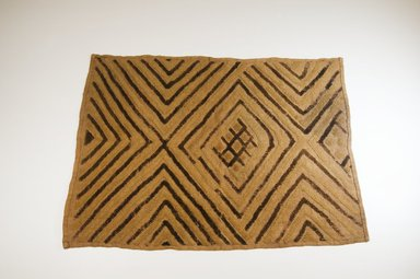 Kuba. <em>Raffia Cut-Pile Panel</em>, 19th century. Raffia, 26 x 19 3/8 in. (65.0 x 48.0 cm). Brooklyn Museum, Museum Expedition 1922, Robert B. Woodward Memorial Fund, 22.566. Creative Commons-BY (Photo: Brooklyn Museum, CUR.22.566_top_PS5.jpg)