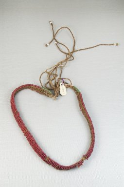 Possibly Zulu. <em>Body Ornament</em>, late 19th-early 20th century. Glass beads, natural fiber thread, 3/8 x 18 11/16 in. (1 x 47.5 cm). Brooklyn Museum, Gift of Thomas A. Eddy, 22.589. Creative Commons-BY (Photo: Brooklyn Museum, CUR.22.589_front_PS5.jpg)