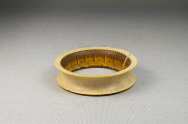 <em>Bracelet</em>. Plain ivory Brooklyn Museum, Museum Expedition 1922, Robert B. Woodward Memorial Fund, 22.634. Creative Commons-BY (Photo: Brooklyn Museum, CUR.22.634_front_PS5.jpg)