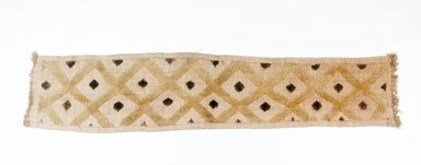 Kuba. <em>Raffia Cloth</em>, 19th century. Raffia, 54 x 3 1/8 in. (137.0 x 8.0 cm). Brooklyn Museum, Museum Expedition 1922, Robert B. Woodward Memorial Fund, 22.684. Creative Commons-BY (Photo: Brooklyn Museum, CUR.22.684_top_pS5.jpg)