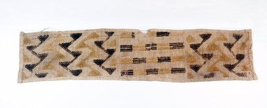 Kuba. <em>Raffia Cloth</em>, 19th century. Raffia, 24 x 5 1/2 in. (61.0 x 14.0 cm). Brooklyn Museum, Museum Expedition 1922, Robert B. Woodward Memorial Fund, 22.685. Creative Commons-BY (Photo: Brooklyn Museum, CUR.22.685_top_PS5.jpg)