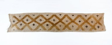 Kuba. <em>Raffia Cloth</em>, 19th century. Raffia, 23 1/2 x 5 in. (60.0 x 12.8 cm). Brooklyn Museum, Museum Expedition 1922, Robert B. Woodward Memorial Fund, 22.687. Creative Commons-BY (Photo: Brooklyn Museum, CUR.22.687_top_PS5.jpg)