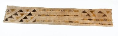 Kuba. <em>Raffia Cloth</em>, 19th century. Raffia, 25 3/4 x 4 3/8 in. (66.0 x 11.5 cm). Brooklyn Museum, Museum Expedition 1922, Robert B. Woodward Memorial Fund, 22.688. Creative Commons-BY (Photo: Brooklyn Museum, CUR.22.688_top_PS5.jpg)