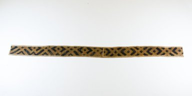 Kuba. <em>Raffia Cut-Pile Cloth</em>, 19th century. Raffia, 40 3/4 x 2 7/8 in. (88.0 x 8.0 cm). Brooklyn Museum, Museum Expedition 1922, Robert B. Woodward Memorial Fund, 22.689. Creative Commons-BY (Photo: Brooklyn Museum, CUR.22.689_top_PS5.jpg)