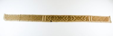 Kuba (Bushoong subgroup). <em>Raffia Band</em>, 19th century. Raffia, 48 7/16 x 3 7/16 in.  (123 x 8.7 cm). Brooklyn Museum, Museum Expedition 1922, Robert B. Woodward Memorial Fund, 22.708. Creative Commons-BY (Photo: Brooklyn Museum, CUR.22.708_top_PS5.jpg)