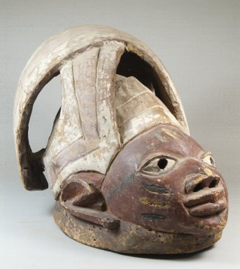 Yorùbá. <em>Gelede Mask</em>, late 19th century. Wood, pigment, 11 1/4 x 9 x 14 15/16 in. (28.6 x 22.9 x 37.9 cm). Brooklyn Museum, Museum Expedition 1922, Robert B. Woodward Memorial Fund, 22.757. Creative Commons-BY (Photo: Brooklyn Museum, CUR.22.757_threequarter_PS5.jpg)