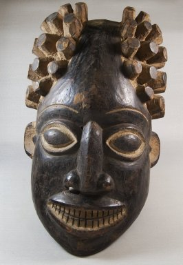 Tikar. <em>Mask</em>, late 19th or early 20th century. Wood, pigment, 18 1/8 x 10 5/8 x 8 1/4 in. (46 x 27 x 21 cm). Brooklyn Museum, Museum Expedition 1922, Robert B. Woodward Memorial Fund, 22.758. Creative Commons-BY (Photo: Brooklyn Museum, CUR.22.758_front_PS5.jpg)