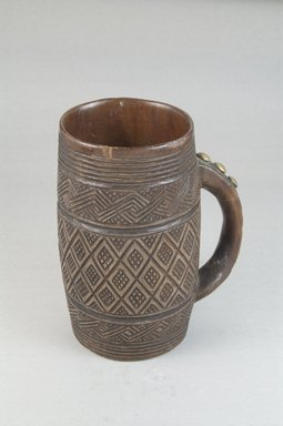 Kuba. <em>Cup</em>, early 20th century. Wood, metal, height: 5 1/2 in. (14 cm); diameter: 2 15/16 in. (7.5 cm). Brooklyn Museum, Museum Expedition 1922, Robert B. Woodward Memorial Fund, 22.795. Creative Commons-BY (Photo: Brooklyn Museum, CUR.22.795_front_PS5.jpg)