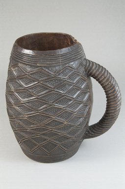 Kuba. <em>Cup</em>, early 20th century. Wood, height: 7 1/16 in. (18 cm); diameter: 3 3/8 in. (8.6 cm). Brooklyn Museum, Museum Expedition 1922, Robert B. Woodward Memorial Fund, 22.796. Creative Commons-BY (Photo: Brooklyn Museum, CUR.22.796_front_PS5.jpg)
