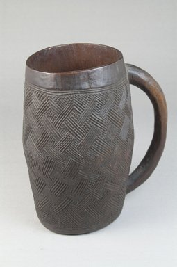 Kuba. <em>Cup</em>, early 20th century. Wood, height: 5 7/8 in. (15 cm); diameter: 2 15/16 in. (7.5 cm). Brooklyn Museum, Museum Expedition 1922, Robert B. Woodward Memorial Fund, 22.798. Creative Commons-BY (Photo: Brooklyn Museum, CUR.22.798_front_PS5.jpg)