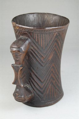 Kuba. <em>Cup</em>, early 20th century. Wood, 5 7/8 x 3 15/16 in. (15 x 10 cm). Brooklyn Museum, Museum Expedition 1922, Robert B. Woodward Memorial Fund, 22.801. Creative Commons-BY (Photo: Brooklyn Museum, CUR.22.801_front_PS5.jpg)