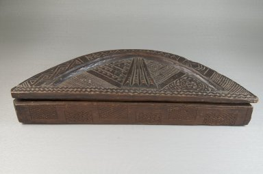Kuba. <em>Cosmetic Box</em>, early 20th century. Wood, 13 1/2 x 2 1/8 in. (34.4 x 5.3 cm). Brooklyn Museum, Museum Expedition 1922, Robert B. Woodward Memorial Fund, 22.807a-b. Creative Commons-BY (Photo: Brooklyn Museum, CUR.22.807a-b_front_PS5.jpg)